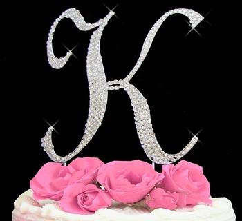 K Letter In Style Letter K Cake Topper