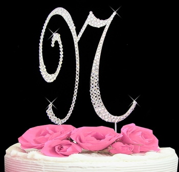 Cake Toppers Letters : Letter N Cake Topper - Wedding Cake Topper Just Jen