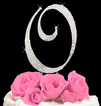 wedding cake topper letter O