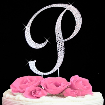 letter P wedding cake toppers