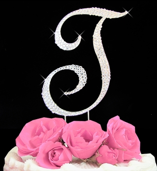 Letter T Wedding Cake Topper