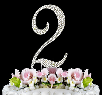 Rhinestone Number Cake Toppers for Celebrations Just Jen