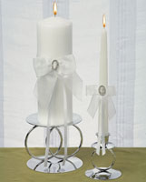 crystal pillar candle