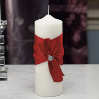 monroe wedding pillar candle