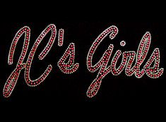 jc girls rhinestone iron on transfer
