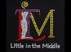 little in middle rhinestone heat transfer