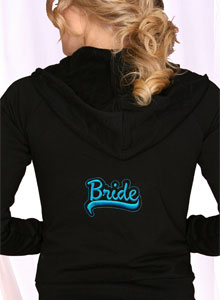embroidered bride sweatsuit