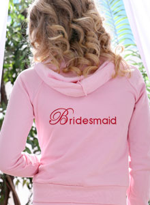 embroidered bridesmaid hoodie