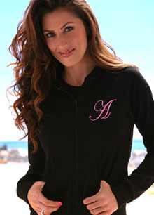 embroidered monogram hoodie sweatshirt