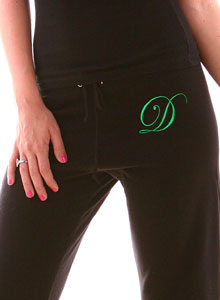 embroidered sweatpant monogram