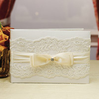 french lace guest book