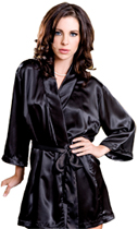 custom rhinestone satin robe