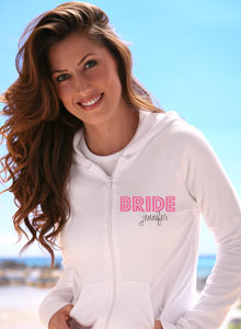 bride hoodie with faux bling style