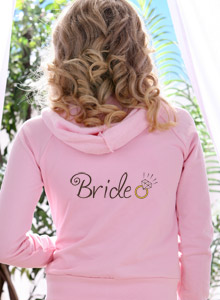 bride hoodie with ring design