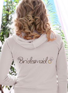 bridesmaid ring hoodie