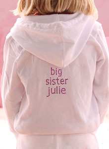 personalized big sister hoody