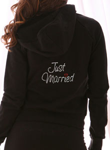 just married hoodie sweatshirt