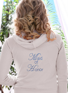 edwardian maid of honor hoodie
