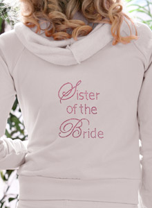 sister of the bride hoodie