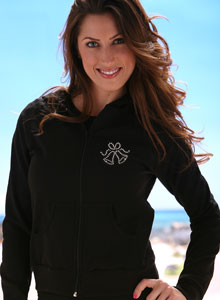 wedding hoodie with rhinestone bells