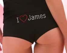 personalized i love panty