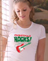 christmas rocks guitar t-shirt