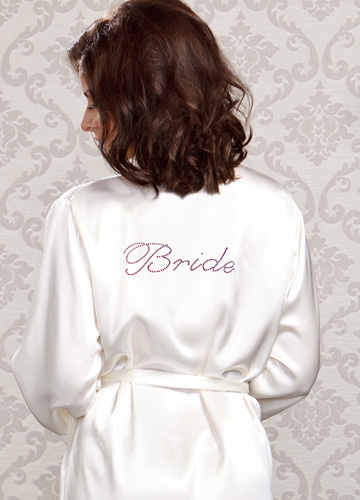 bride fancy satin robe