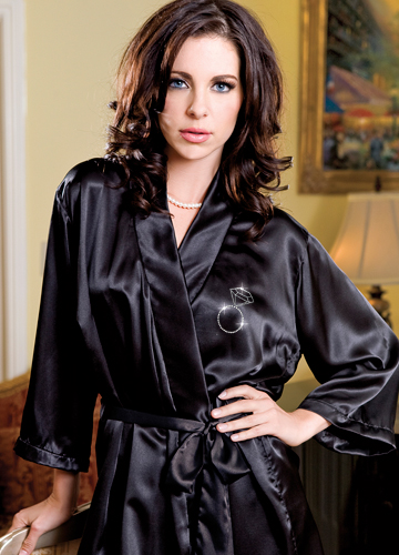 diamond ring satin robe