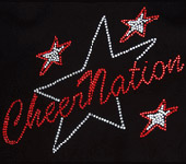 cheerleading shirt cheer nation with filled stars
