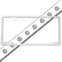 rhinestone license frame 125