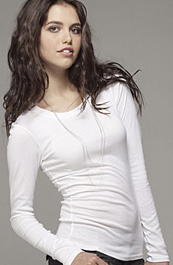 long sleeve fitted shirt by american apparel