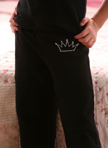 girls crown sweat pants clothing