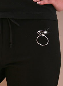 diamond ring sweat pants