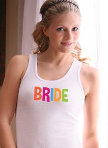 bride tank top with letter colors
