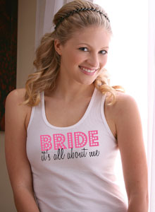 its all about me bride tank top