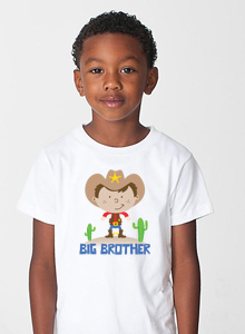 big brother t-shirt with cowboy