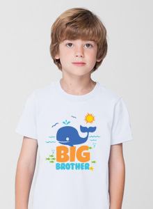 big brother t-shirt with whale