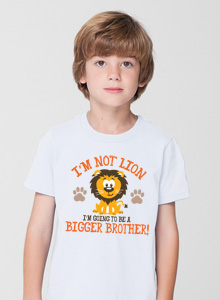 bigger brother im not lion t-shirt