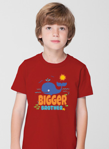 bigger brother whale t-shirt with pirate