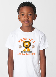 biggest brother im not lion t-shirt