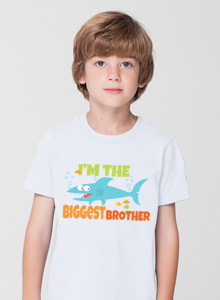 biggest brother t-shirt with shark