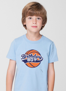birthday boy basketball t-shirt