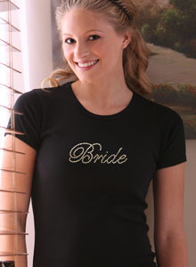 bride t-shirt with edwardian script