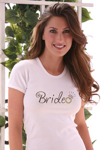 bride with ring t-shirt