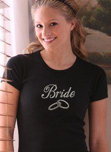 bride t-shirt with rings