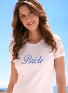 sparkling bride shirt
