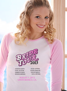 bridal tour 2-13 t-shirt