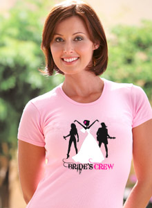 bride's crew band t-shirt