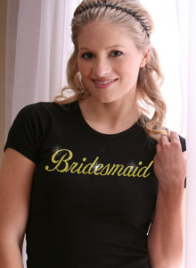 sparkling bridesmaid shirt