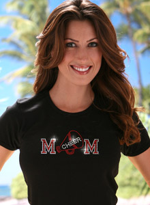 cheer mom with megaphone t shirt